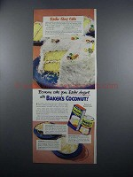 1949 Baker's Coconut Ad - Easter Glory Cake Recipe