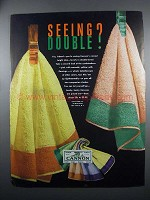 1949 Cannon Towels Ad - Seeing Double?