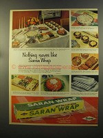 1959 Dow Saran Wrap Ad - Nothing Saves Like