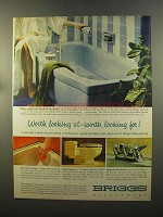 1959 Briggs Beautyware Bath Fixtures Ad - Looking At