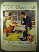 1958 7up Soda Ad - Quick, Refreshing Lift