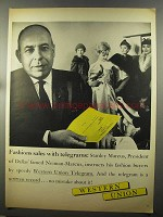 1958 Western Union Ad - Fashion Sales with Telegrams