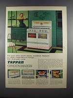 1955 Tappan Greenbriar Range Ad - Every Modern Feature