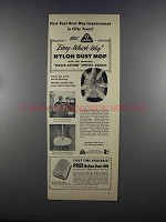 1955 O-Cedar Nylon Dust Mop Ad - First Improvement