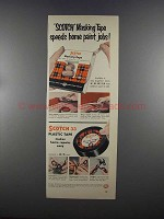 1955 3M Scotch Masking Tape Ad - Home Paint Jobs