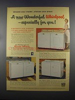 1955 Whirlpool Imperial, Deluxe & Supreme Washers Ad