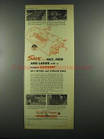 1955 Great Lake Steel Quonset Ad - Save Hay, Feed Labor