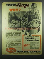 1955 Babson Bros. Surge Milkers Ad - Thousands Switch
