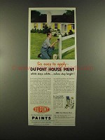 1955 Du Pont House Paint Ad - So Easy to Apply