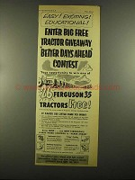 1955 Ferguson 35 Tractors Ad - Exciting Educational