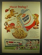 1955 Post Sugar Crisp Cereal Ad - Ted Williams