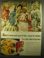 1955 Aunt Jemima Pancake Mix Ad - Would Never Tell Them