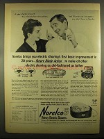1955 Norelco Rotary Electric Shavers Ad - Improvement