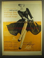 1955 Holeproof and Luxite Hosiery Ad - Foil-a-Run