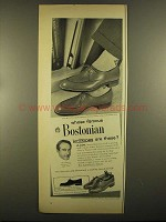 1955 Bostonian Lo-Slope Shoes Ad - Victor Borge