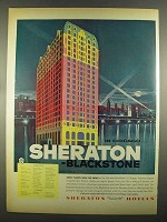 1955 Sheraton Blackstone Hotel Ad - In Chicago