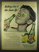 1955 7up Soda Ad - Nothing Does It Like Seven-Up!