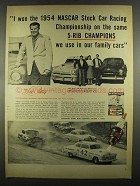 1955 Champion Spark Plugs Ad - Lee Petty, Richard Petty