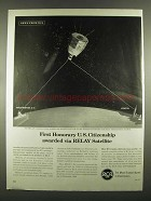 1963 RCA RELAY communications Satellite Ad