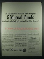 1964 IDS Investors Diversified Services Ad - Objectives