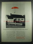 1964 Travelers Insurance Ad - House Over 2 Years Old