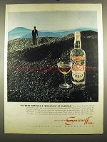 1964 Smirnoff Vodka Ad - Mountain of Charcoal
