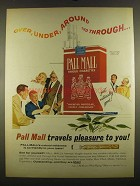1964 Pall Mall Cigarettes Ad - Over, Under, Around