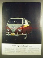 1964 Volkswagen Bus Ad - Somebody Actually Stole One