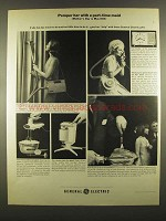 1964 General Electric Ad - MV-1 Portable Cleaner, Mixer