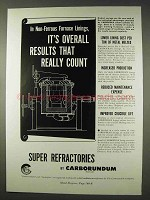 1947 Carborundum Super Refractories Ad - Results