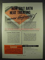 1947 American Cyanamid Ad - Salt Bath Heat Treating