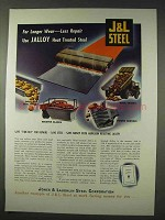 1947 Jones & Laughlin Jalloy Heat Treated Steel Ad!