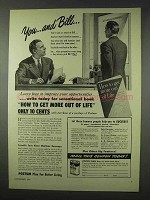 1947 Postum Drink Ad - You and Bill
