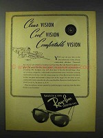 1947 Bausch & Lomb Ray-Ban Shooting Glasses Ad