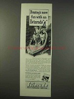 1947 Evinrude 4 Outboard Motor Ad - Boating's More Fun