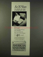 1947 American Stationery Ad - Big Value in Note Paper