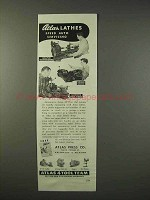 1947 Atlas Lathes Ad - Speed Auto Servicing