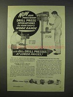 1947 Atlas Drill Press Ad - Bench Model, Floor Model