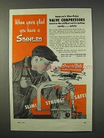 1947 Snap-On Blue-Point Valve Compressors Tool Ad