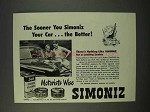 1947 Simoniz Wax Ad - The Sooner The Better