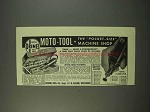 1947 Dremel Moto-Tool Ad - Pocket-Size Machine Shop