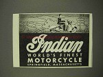 1947 Indian Motorcycle Ad - World's Finest