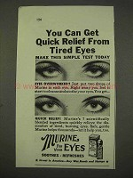 1943 Murine Eye Solution Ad - Quick Relief Tired Eyes