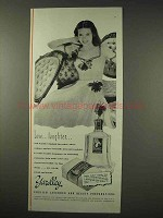1942 Yardley English Lavender Perfume Ad - Laughter