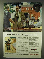 1942 Four Roses Whiskey Ad - How to Improve Scene 2