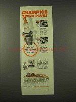 1942 Champion Spark Plugs Ad