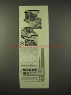 1942 Nicholson Files Ad - Millions of Useful Jobs