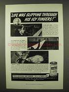 1942 Eveready Batteries Ad - Life Was Slipping Through