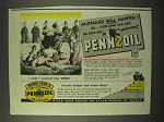1942 Pennzoil Oil Ad - I Said I wanted him SHOD