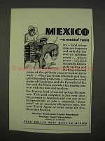 1942 Mexico Tourism Ad - A Mental Tonic
